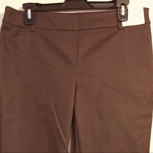 NWOT NY&C BROWN SLIM MID RISE STRETCH, SIZE 8